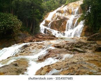 Sg Pandan Waterfall in Malaysia.