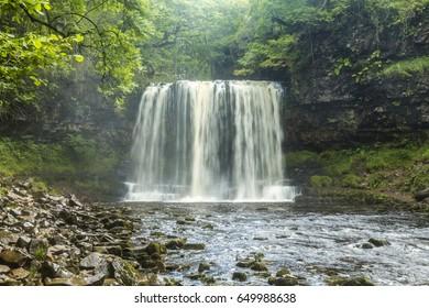 Sgwd yr Eira Waterfall, Brecon Beacons National Park, Wales, United Kingdom