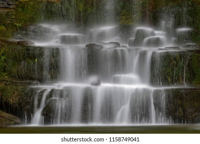 Sgwd yr Eira waterfall in summer, Brecon Beacons National Park, Wales.