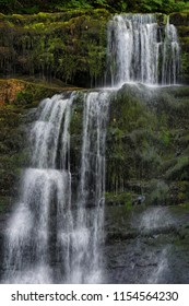 Sgwd yr Pannwr waterfall in summer, Brecon Beacons National Park, Wales.