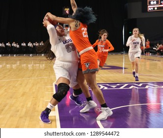 Sha Ron Miller center for the Grand Canyon University Lopes at GCU Arena in Phoenix,AZ/USA January 12,2019.