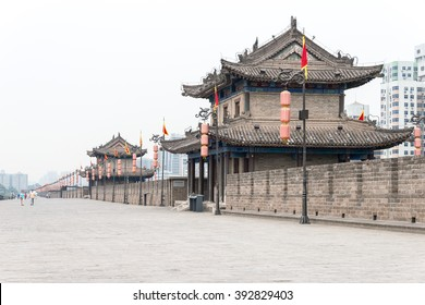 SHAANXI, CHINA - Jun 01 2015: City Wall of Xi'an. a famous Historic Sites in Xi'an, Shaanxi, China.