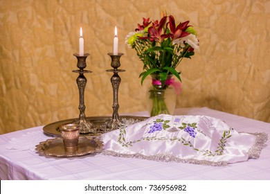 Shabbat eve table