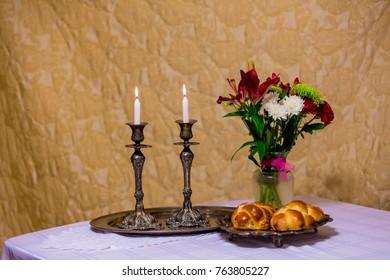 Shabbat eve table