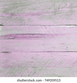 Shabby chic background - wooden boards, scuffed, pink peeling paint & design space.