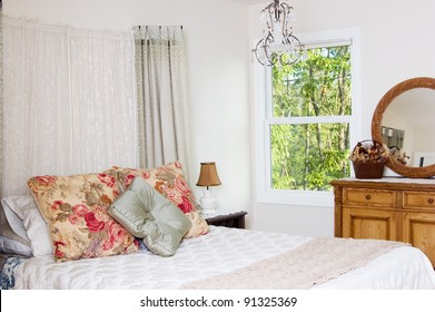 Shabby chic bedroom in a home