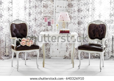 Shabby Chic Room Interior Wedding Decor Stockfoto Jetzt Bearbeiten