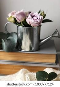 shabby light purple roses. shabby morning. cozy flower wallpaper