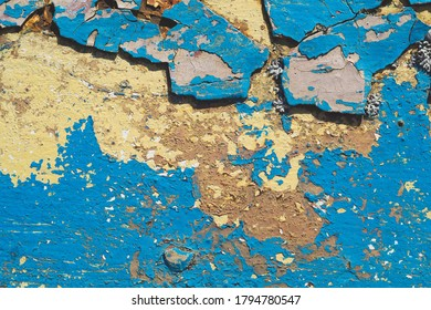 Shabby paint on the old surface. abstract industrial background. grunge texture