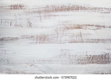 Shabby white wooden background