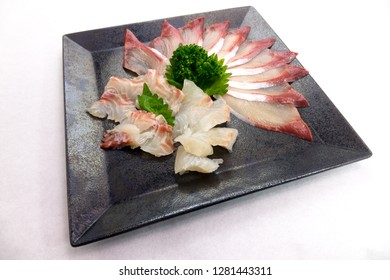 Shabu shabu(hotpot dish of thinly sliced seafood)with Yellowtail and snapper