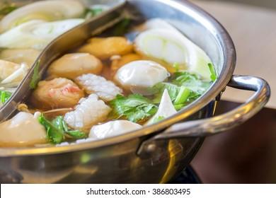 Shabu Shabu,pork,meat ball,Vegetable