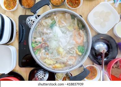 Shabu Shabu and Sukiyaki, Japanese food.