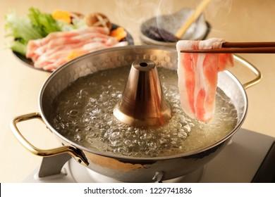 Shabu-shabu of pork