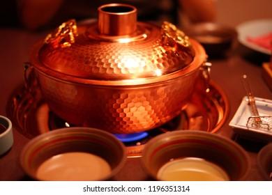 Shabu-shabu at pot in Japan