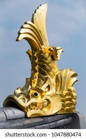 Shachihoko, a mythical fish with a lion like head