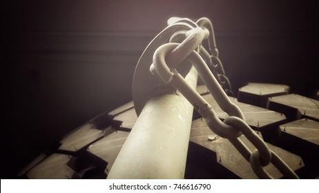 shackle in garage