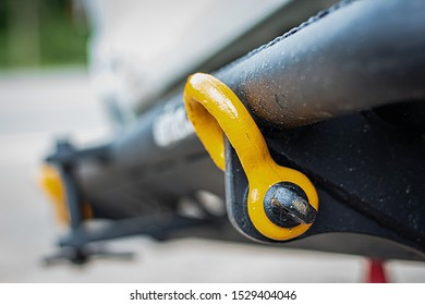 Shackles on the off-road bumper.