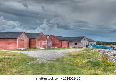 Shacks at Rocky Harbour Newfoundland Canda