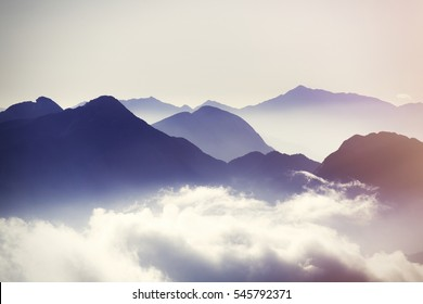 shadaws Moutains and sky view.