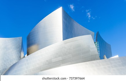 Shade and Light : October 18 2017: Los Angeles California : View of Walt Disney Concert hall was design by architect Frank Gehry.