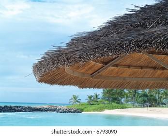 shade on a beach