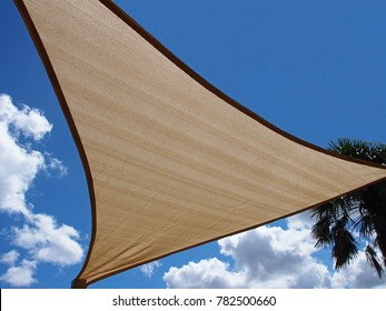 Shade sail against nice sky