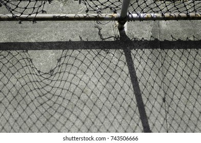 Shade of Shadow Hole of Wire Mesh Fence on Ground 2
