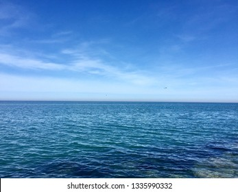 shades of blue in the black sea