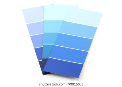 Shades of Blue Paint Swatches