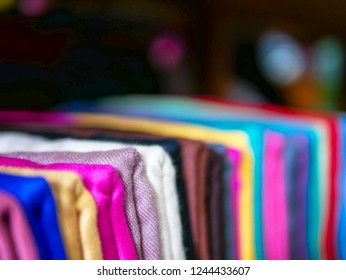 Shading of Silk scarf on shelf category for customer