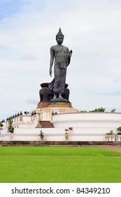 Shadow of big Buddha statue