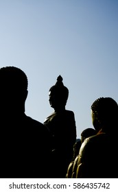 shadow of buddha statue