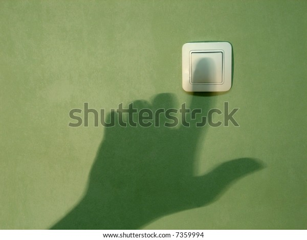 Shadow by hand on a wall