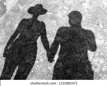 The shadow of a couple