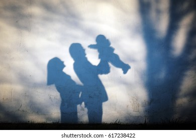 shadow family portrait