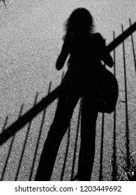 shadow girl on the street
