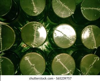 Shadow green Bottle caps abstract wallpaper
