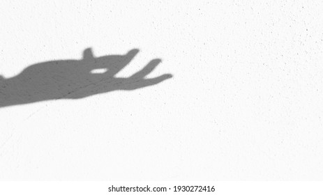 Shadow of a hand reaching