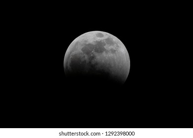 Earth's shadow has partially covered the moon's service during a total lunar eclipse.