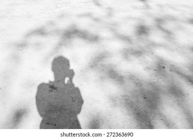 shadow of human was taken photograph by digital camera