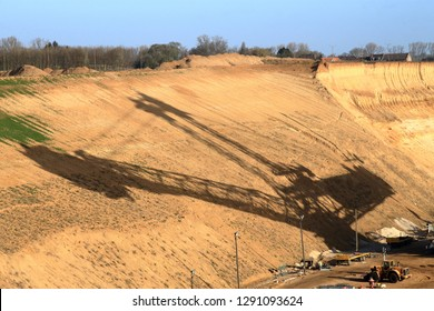 shadow of an lignite excavator, whats the future of brown coal in germany