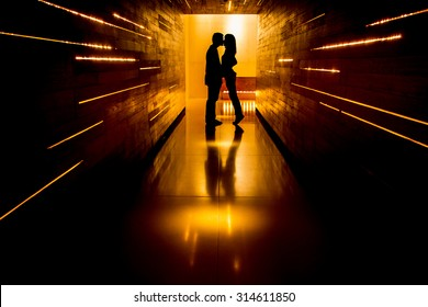 Shadow of love at end of tunnel
