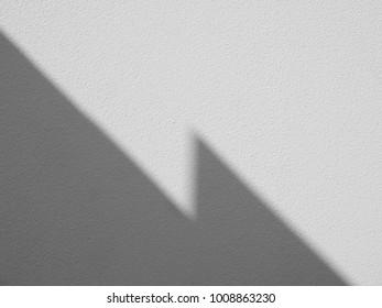 shadow on white wall minimalism style