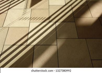 Shadow pattern of office floor