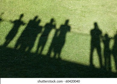 Shadow of people for background