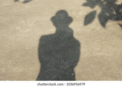 The shadow of photographer. Uttaradit  March 2