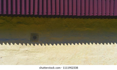 Shadow from the roof on the wall