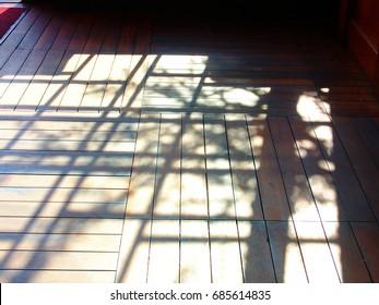 Shadow of a Shoji door