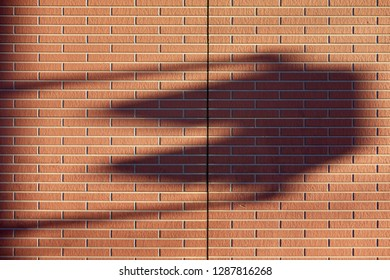 Shadow of siding outer wall and traffic signal